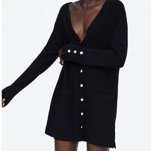 Zara cardigan jacket with buttons